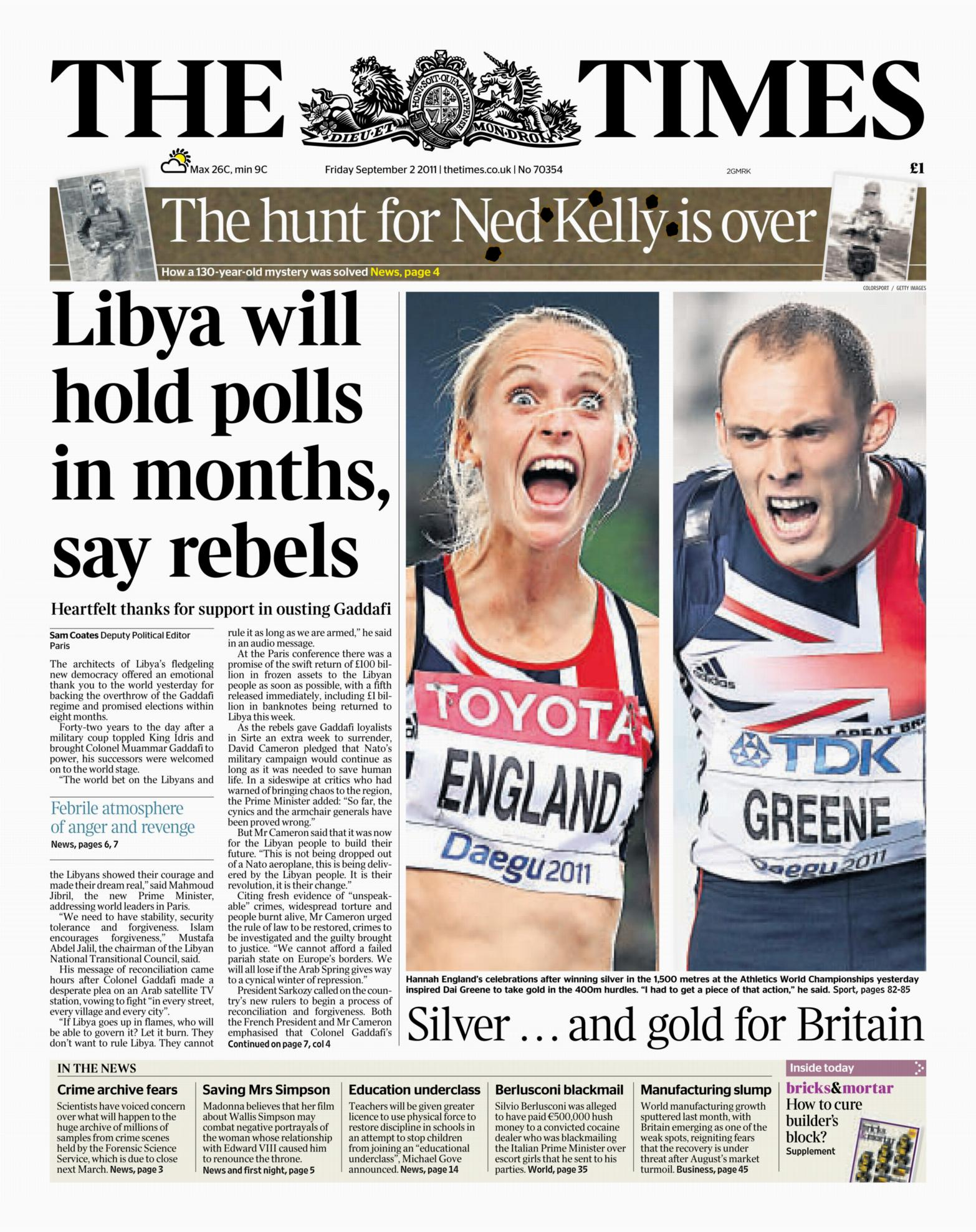 The Times - 2nd Sep 2011