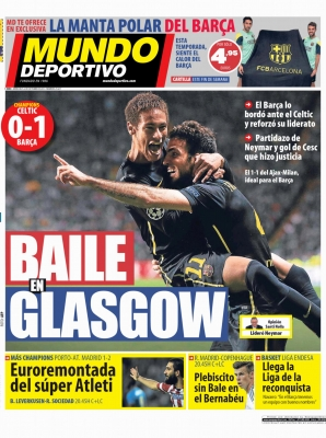 Mundo Deportivo - 2nd Oct 2013