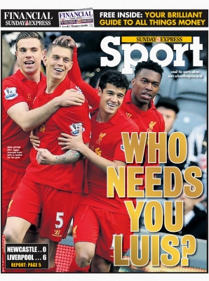 Sunday Express - Newcastle v Liverpool