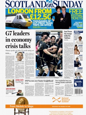 Scotland on Sunday - Front Page